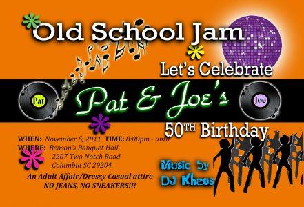 Pat and Joe bday invites